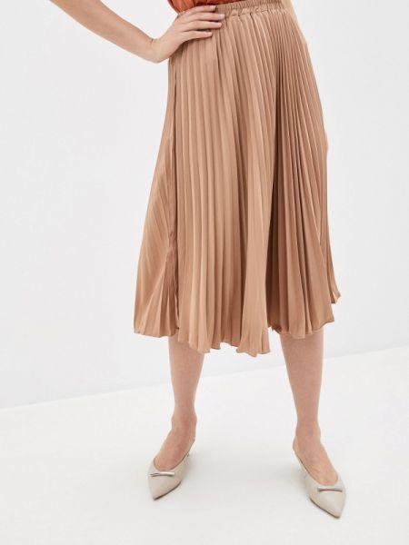 Плиссированная бежевая плиссированная юбка Shelter
