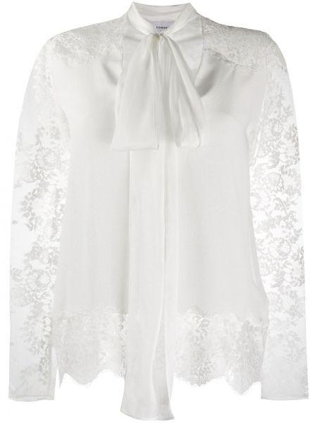Bluzka z długim rękawem biała długa Faith Connexion