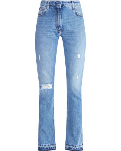 Расклешенные джинсы с вышивкой с бахромой Ermanno Ermanno Scervino