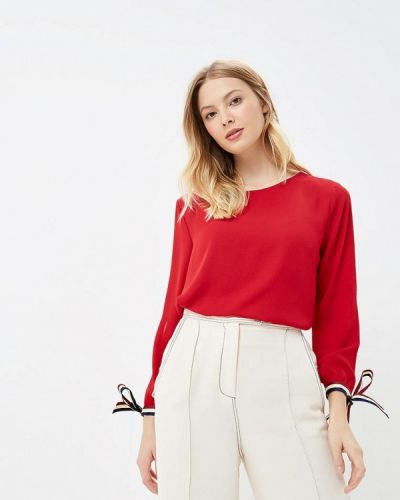 Блузка с длинным рукавом красная Miss Miss By Valentina