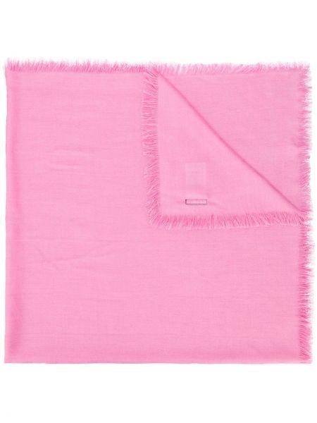 Różowy szalik wełniany Escada