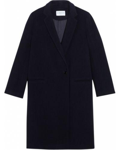 Шерстяное пальто - синее Claudie Pierlot