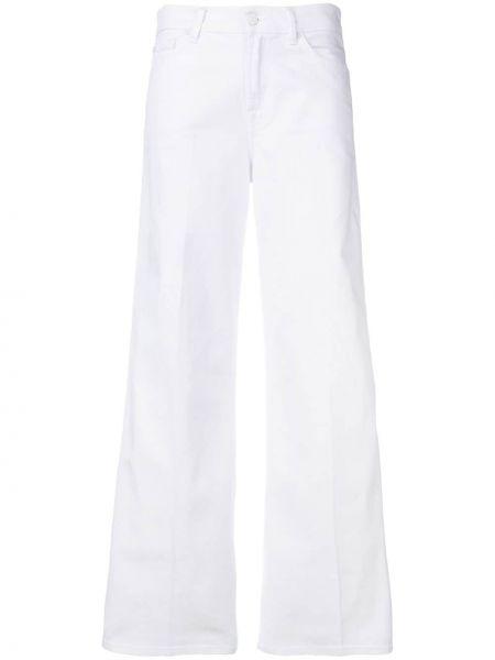 Широкие джинсы белые на пуговицах 7 For All Mankind