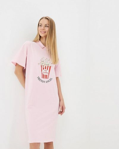 Розовое платье весеннее Trendyangel