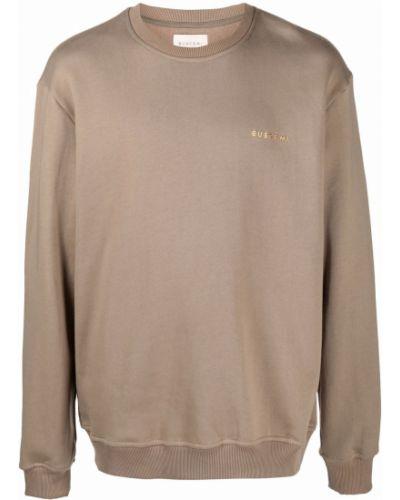 Brązowa bluza z nadrukiem z printem Buscemi