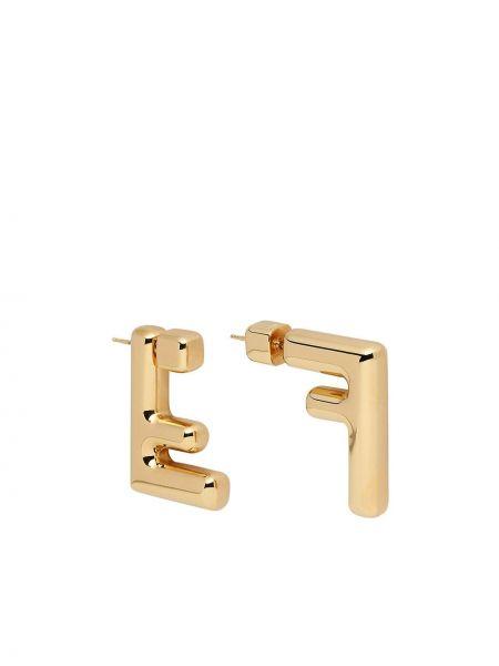 Kolczyki ze sztyftem złoto Fendi
