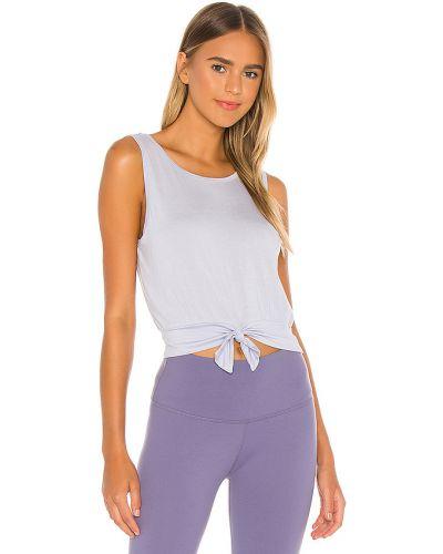 Dopasowywanie włókienniczy fioletowy crop top na jogę Beyond Yoga