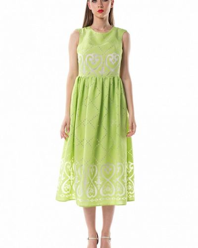 Прямое зеленое платье Evercode