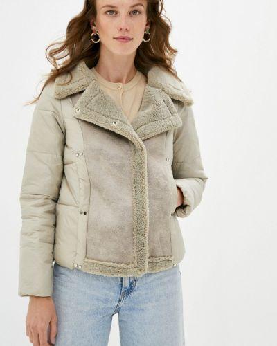 Бежевая утепленная куртка Fadas
