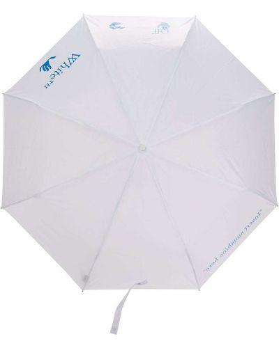 Biały parasol z printem Off-white