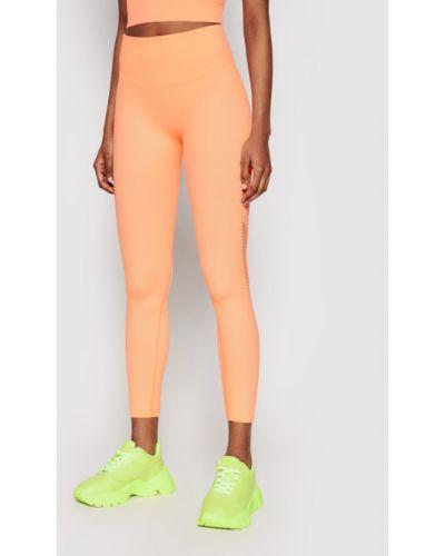 Legginsy - pomarańczowe Dkny Sport