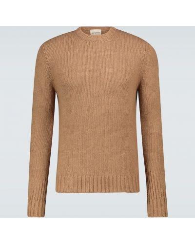 Beżowy sweter wełniany Rochas