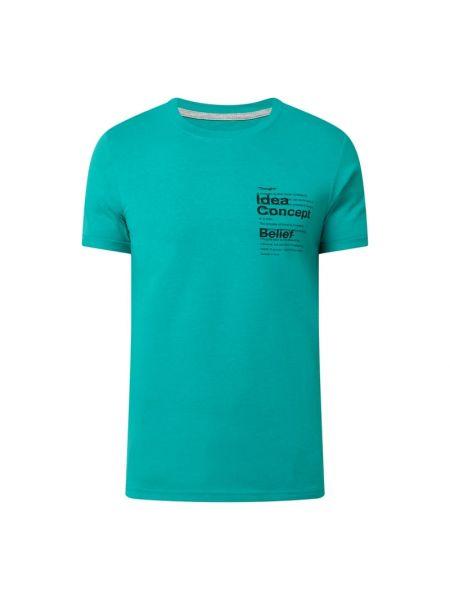 T-shirt bawełniana - turkusowa Q/s Designed By