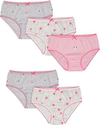 Трусы серые розовый Mothercare