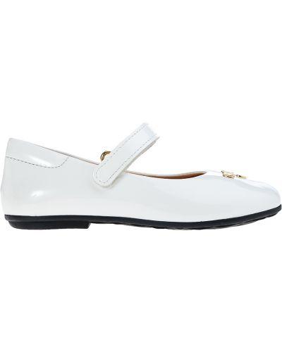 Туфли лаковые белые Moschino