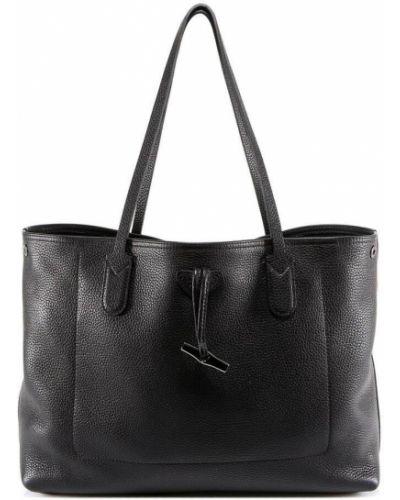 Czarna torba na ramię Longchamp