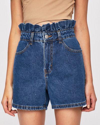 Джинсовые шорты с оборками синий Jacqueline De Yong