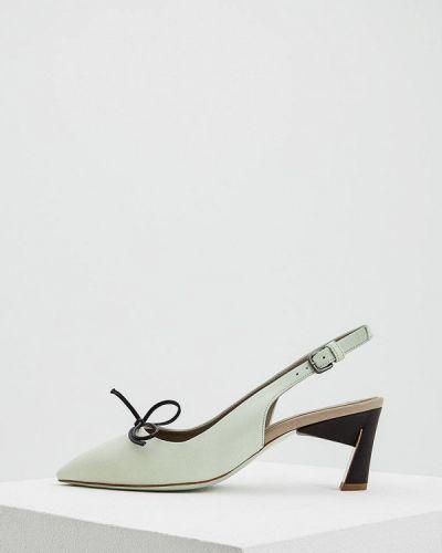 Кожаные туфли с открытой пяткой на каблуке Marni