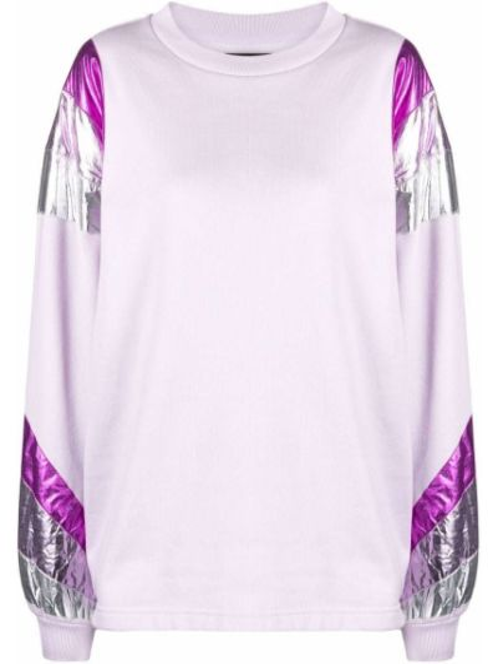 Fioletowa bluza długa bawełniana z długimi rękawami Isabel Marant
