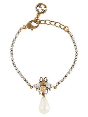Złota bransoletka ze złota perły Gucci