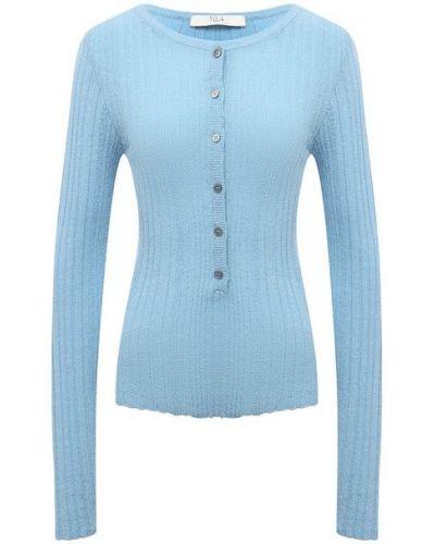 Хлопковый пуловер - синий Tela