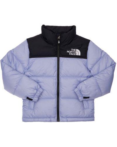 Фиолетовая пуховая куртка с подкладкой The North Face