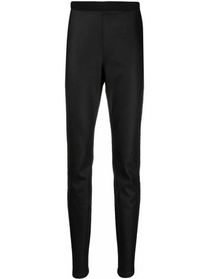 Черные с завышенной талией брюки с поясом Eileen Fisher