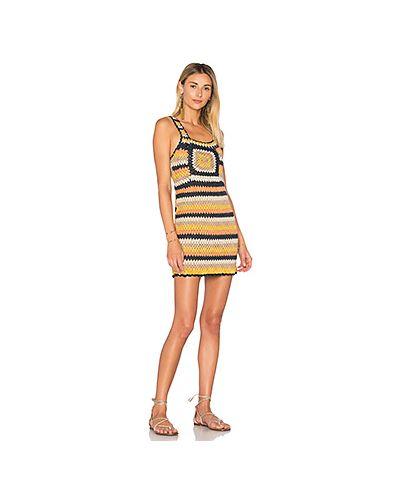 Платье мини вязаное на пуговицах с открытой спиной Tularosa