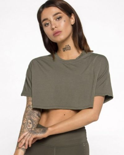 Зеленая спортивная футболка оверсайз для фитнеса Designed For Fitness