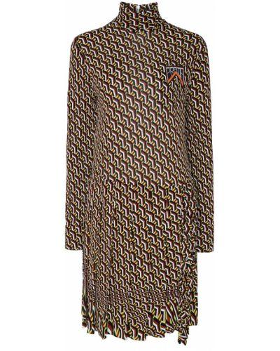 Платье мини миди с воротником-стойкой Prada
