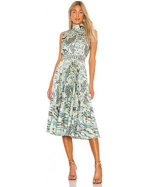 Платье миди сафари плиссированное Saloni
