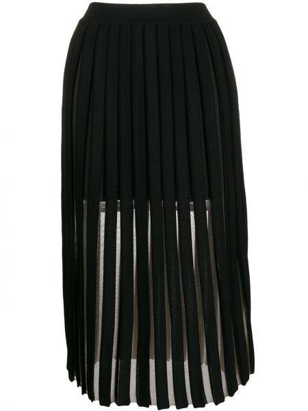 Spódnica midi plisowana z wysokim stanem Balmain