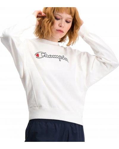 Bawełna z rękawami bluzka z napisem Champion