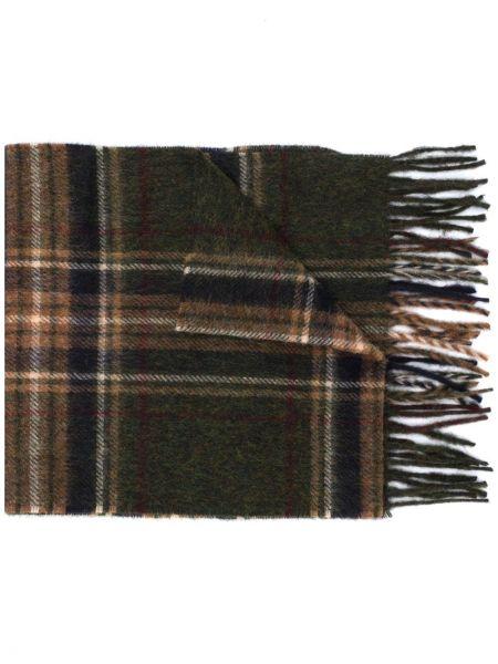 Шерстяной вязаный шарф в клетку Barbour