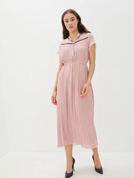 Вечернее розовое вечернее платье Vera Moni