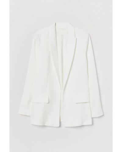 Пиджак длинный - белый H&m