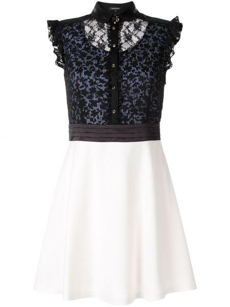 Расклешенное приталенное классическое платье мини на пуговицах Loveless
