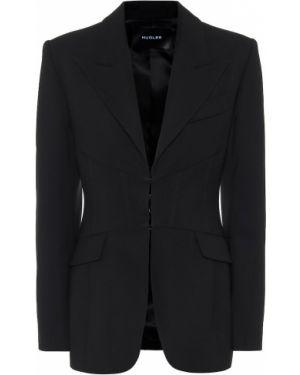 Черный пиджак Mugler