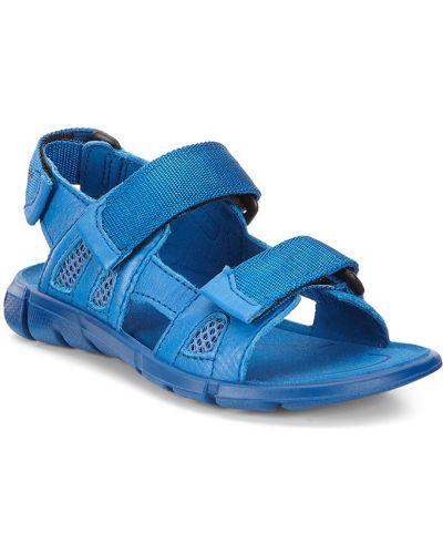 Сандалии текстильные голубой Ecco