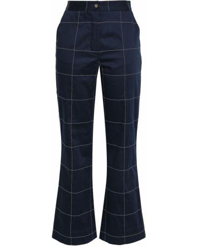 Синие хлопковые брюки Stella Jean