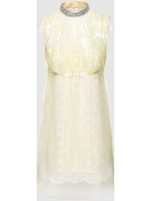 Кружевное платье мини - желтое Marc Jacobs