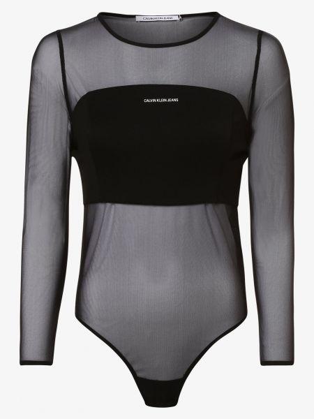 Czarny body sportowe Calvin Klein Jeans