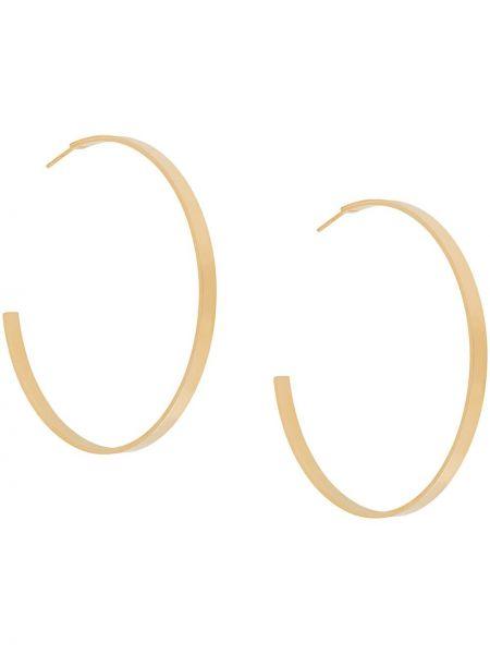 Złote kolczyki sztyfty pozłacane oversize Isabel Lennse