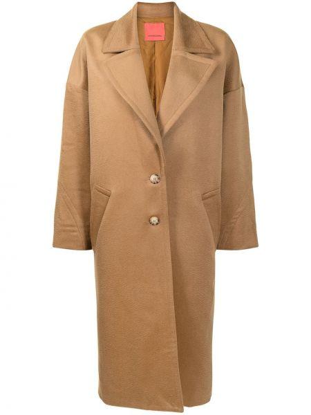 Коричневое шерстяное пальто оверсайз Manning Cartell