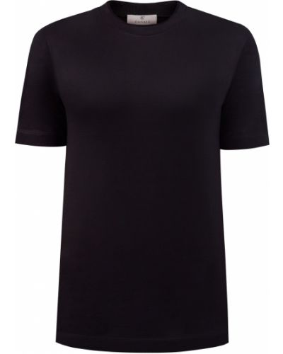 Хлопковая черная футболка с воротником Canali