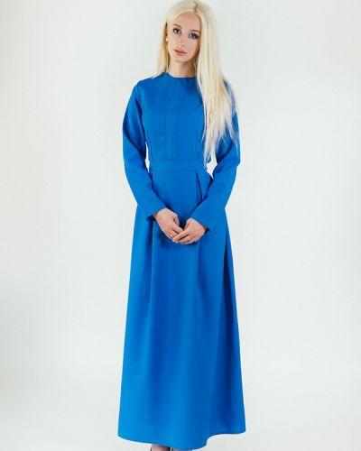 Повседневное платье весеннее синее Подіум