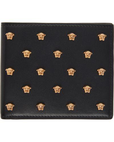 Czarny złoty portfel Versace