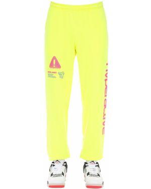 Żółte joggery bawełniane Club Fantasy