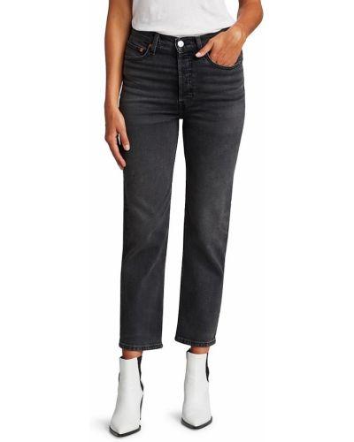 Mom jeans bawełniane - czarne Re/done