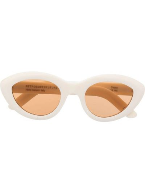 Солнцезащитные очки металлические - белые Retrosuperfuture